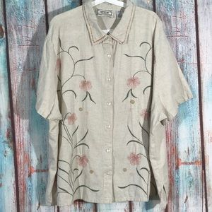 💎 Tantrums Embellished Button Up Shirt Plus 30/32
